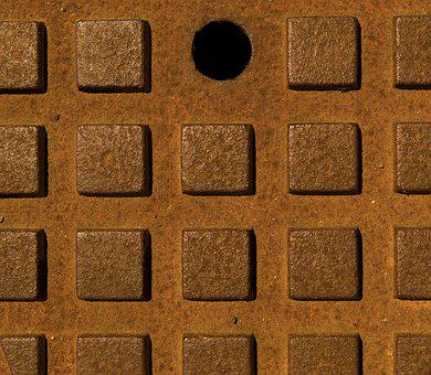 Texture, Sewer, Pattern, Copper