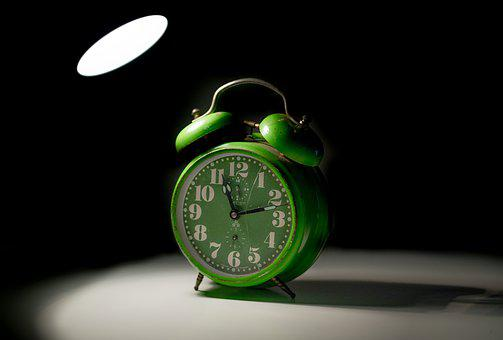 Alarm, Clock, Broken, Light, Shadow, Isolated, Time