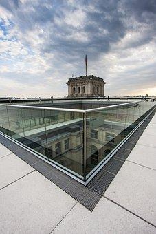 Berlin, Reichstag, Building, Sky, Bundestag