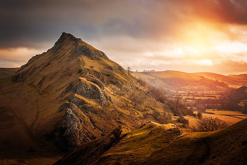Landscape, Nature, Sky, Sun, Mountains, Hill, Rest
