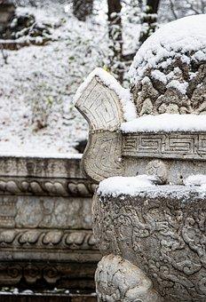 Stone, Snow, Nature, Mountains, Landscape, Sky, Winter