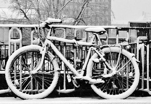 Bike, Snow, Winter, Cycling, Cold, Road, Frost, Ice