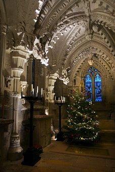 Rosslyn Chapel, Stonework, Christmas, Scotland, Lothian