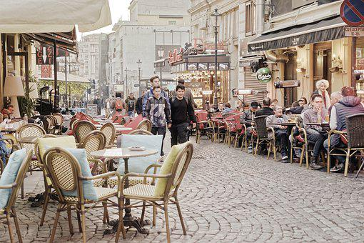 Terraces, Restaurants, Street, Find, The Center Of The