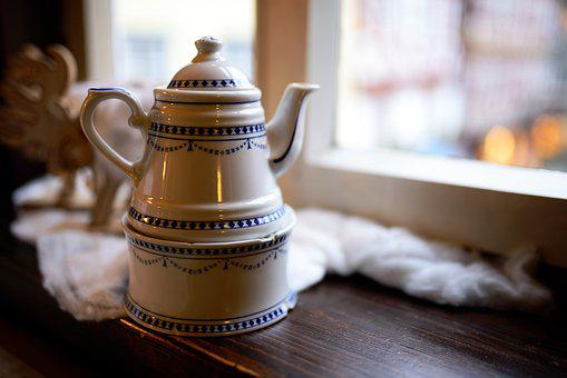 Coffee Pot, Cafe, Coffee, Porcelain, Tableware