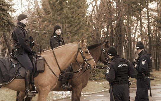 People, Men, Woman, Horses, Uniform, The Rangers, Watch