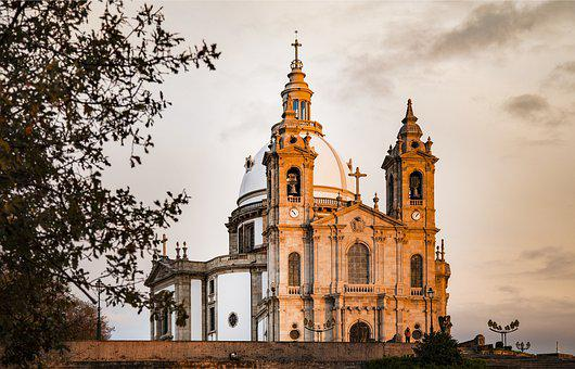 Sameiro, Braga, Sanctuary, Vista, Portugal, Church