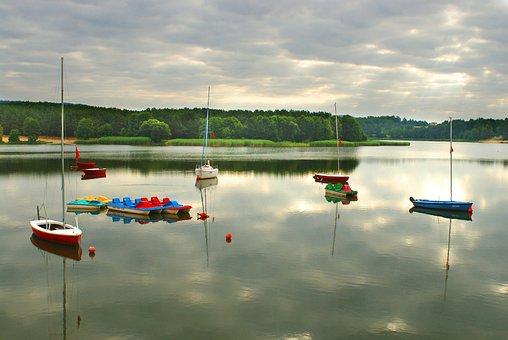 Boat, Lake, Pond, Haven, Ships, Ship, Water, Landscape