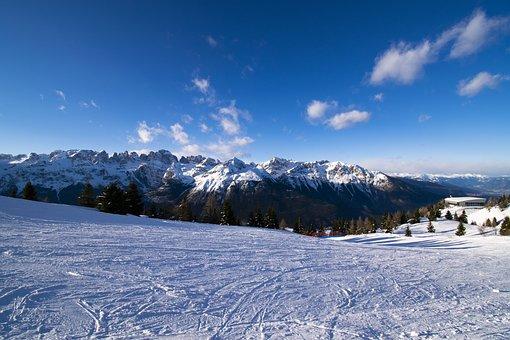 Mountains, Winter, Landscape, Alpine, Nature, Sky, Cold