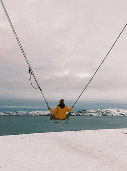 North, Snow, Swing, Vacation, Cold, Nature, Winter