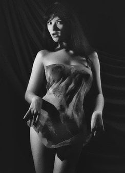Girl, Studio, Monochrome, Woman, Retro