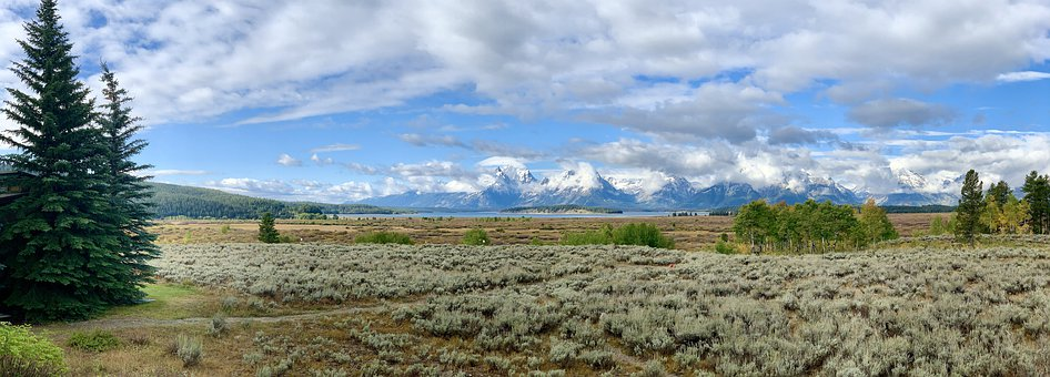 Nature, Teton, Wyoming, Landscape, Scenic, Mountains