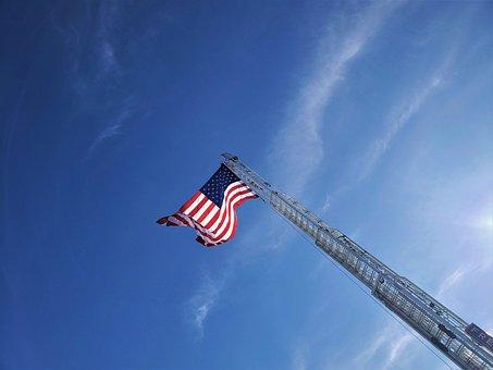 Flag, Usa, Sky, America, National, States, Stripes