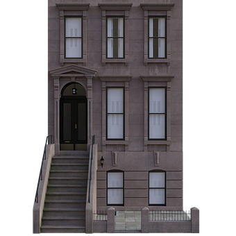 Building, Apartments, Brownstone, Architecture