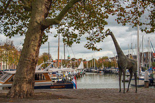 Dordrecht, Netherlands, Port, Architecture, Boats