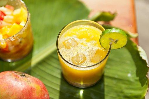 Fruit Juice, Fruits, Banana Leaf, Tropical, Fruit, Leaf