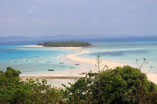 Madagascar, Nosy Iranja, Beach, Sea, Nature, Ocean