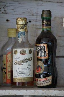 Drink, Whiskey, Bottle, Vintage