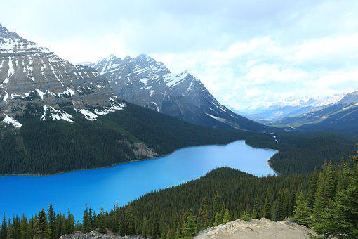 Alberta, Mountains, Canada, Lake