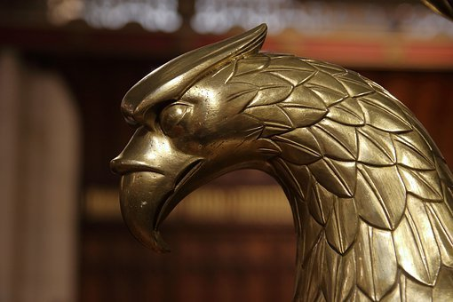 Eagle Lectern, Brass, Church, Chapel, Christianity