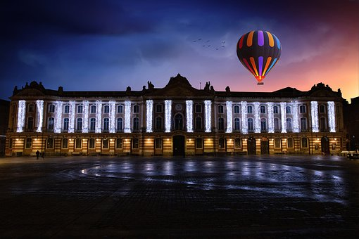 Toulouse, Colors, Capitole, Hot Air Balloon, Balloon