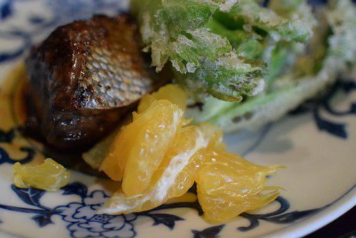 Tempura, Japanese, Dish, Japan, Food, Cuisine, Plate