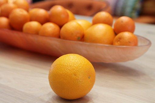 Orange, Plate, Breakfast, Fruit, Healthy, Delicious
