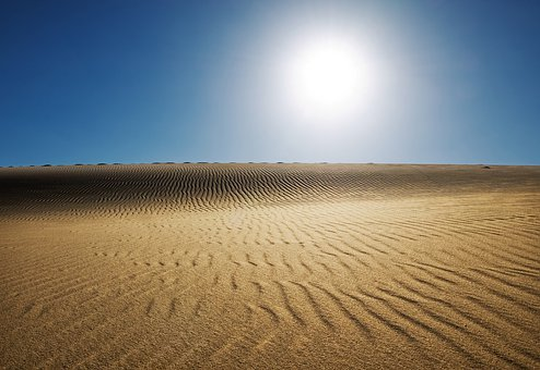 Desert, Sun, Landscape, Fayoum, Egypt, Nature