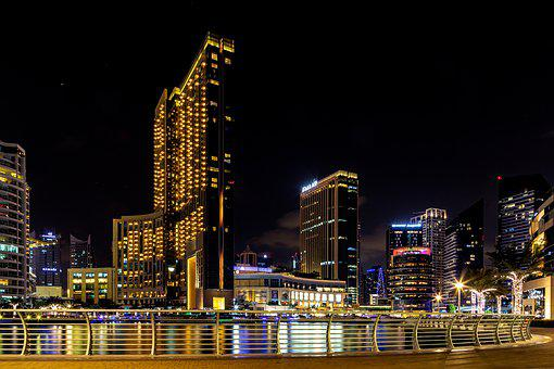 Dubai, Marina, U A E, Landscape, Architecture, Building