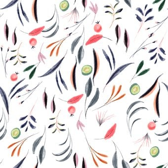 Watercolor, Tablecloth, Fabric, Design, Stamping