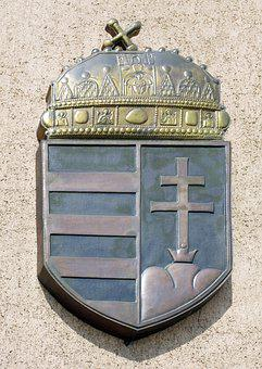 Hungarian Coat Of Arms, Metal, Monument, Fémplasztika