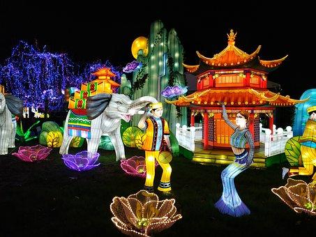 Christmas, Gaillac, Festival, Lights