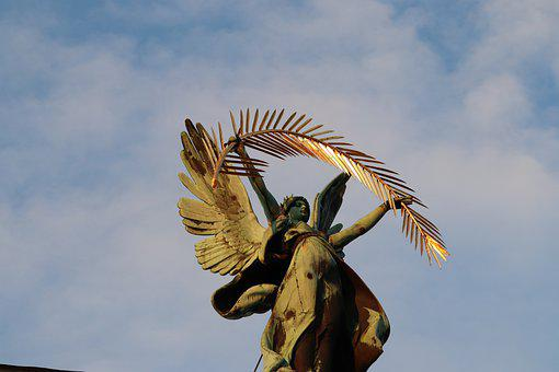 Angel, Monument, Allegorical Figures, Glory