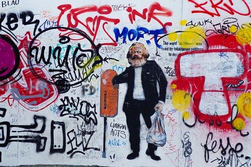 Karl Marx, Graffiti, Socialism, Wall, Street Art, Urban