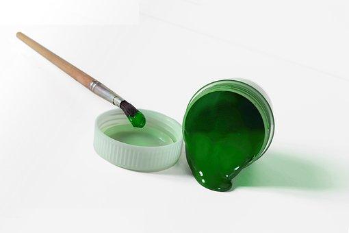 Paint, Gouache, Green, Brush, Paint Artist, Creativity