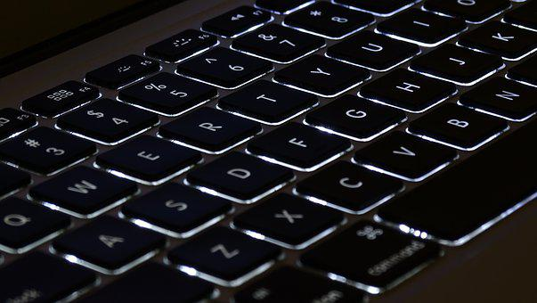 Macbook, Keyboard, Lighting, Laptop