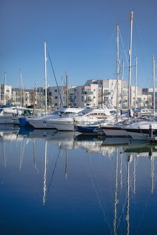 Portishead Marina, Marina, Blue, Sea, Sky, Landscape