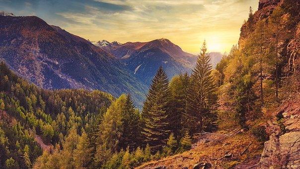 Autumn, Mountains, Landscape, Nature, ötztal, Austria