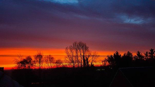 Sunset, North Sea, East Frisia
