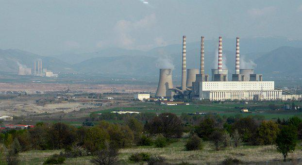 Kozani, Steam, Power, Plant, Energy, Factory