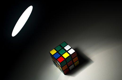 Rubicks, Cube, Shadow, Spotlight, 3d, Puzzle