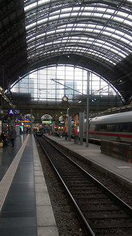 Railway Station, Frankfurt, Train, Gleise
