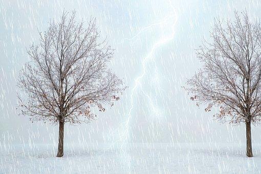 Rain, Storm, Lightning, Climate, Nature, Raining