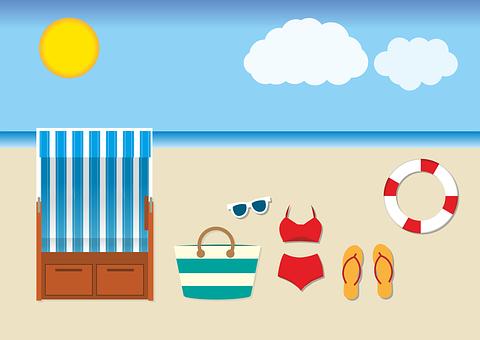 Beach, Beach Chair, Baltic Sea, Vacations, Sea, Sand