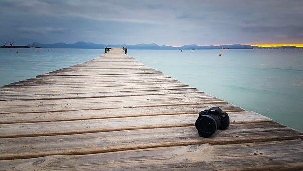 Alcudia, Malloca, Winter Holiday Canon, Slr Camera, Sea