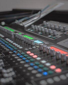 Mixing Desk, Pa, Sound Desk, Music, Desk, Audio, Mixer