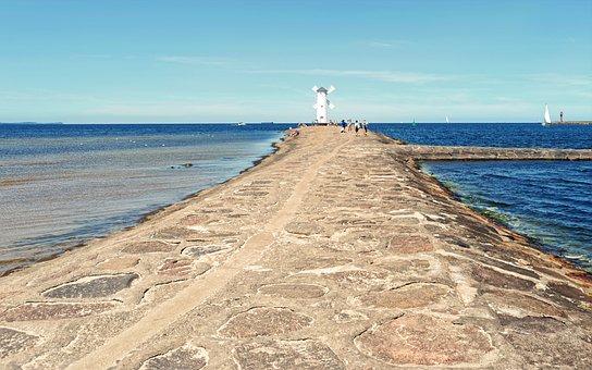 Landscape, Marine, Water, The Shore, Road, Rocks