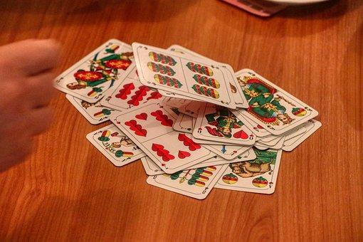 Schafkopf, Cards, Heart, Under, Bavaria, Play