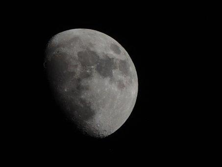 Moon, Shine, Moonlight, Dark, Universe