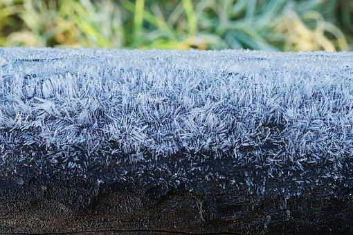 Wooden Beams, Frost, Frosty, Morning, Walk, Winter, Ice